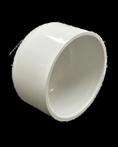 """4"""" Schedule 40 PVC Cap, White, 447-040"""