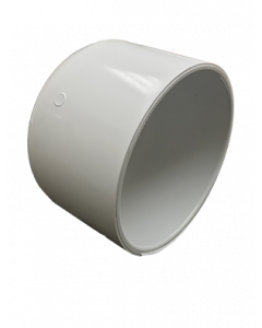 "5"" Schedule 40 PVC Cap, White, 447-050"