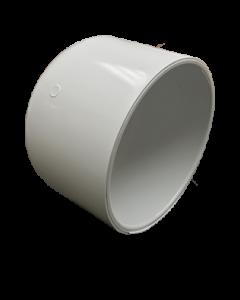 """5"""" Schedule 40 PVC Cap, White, 447-050"""
