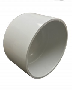 "6"" Schedule 40 PVC Cap, White, 447-060"