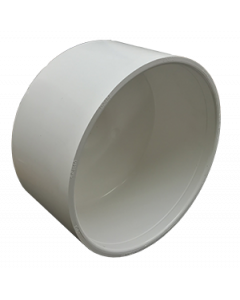 "8"" Schedule 40 PVC Cap, White, 447-080"