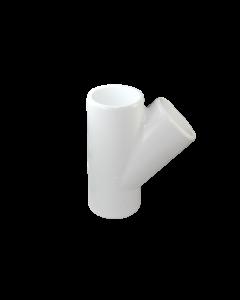"4"" Schedule 40 PVC Wye, White, 475-040"