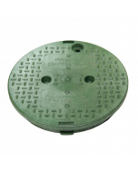"NDS 111C - 10"" Round Overlapping Cover - ICV Green"